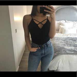 Strappy Black Bodysuit